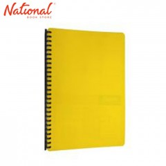 SEAGULL CLEARBOOK REFILLABLE 9427 LONG 20SHEETS 27HOLES DIAGONAL LINES DESIGN, YELLOW
