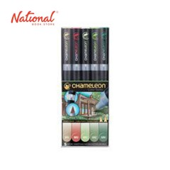 CHAMELEON TWIN TIP GRAPHIC MARKER SET CT0504 5COLORS COOL TONES