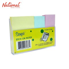 SCRIPTI STICKY NOTE NO. 07036 1.5X2 2 29X74MM PASTEL W/ CASE