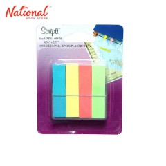 SCRIPTI TAPE FLAG NO. 07073 14X60MM NEON 100S 4/PACK BLISTER TRAY