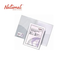 SNOPAKE FOLDER PLASTIC 14920 A4 W INSIDE POCKETS & NAME CARD HOLDER CLASSIC CLEAR PLASTIC