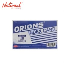 ORIONS INDEX CARD WHITE F300110006 5X8 50S RULED BOTH SIDE