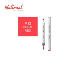 SHINHAN TWIN TIP GRAPHIC MARKER 1110012 R12 CORAL RED