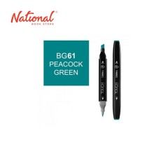 SHINHAN TWIN TIP GRAPHIC MARKER 1110061 BG61 PEACOCK GREEN