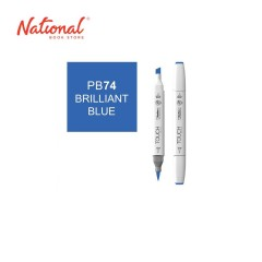 SHINHAN TWIN TIP GRAPHIC MARKER 1110074 PB74 BRILLIANT BLUE
