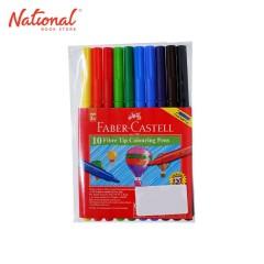 FABER-CASTELL WASHABLE COLORING PEN 155410 10 FIBRE TIP