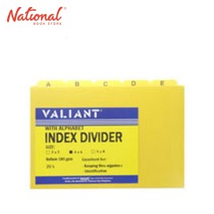 VALIANT INDEX DIVIDER 4X6IN LETTERED YELLOW 25S