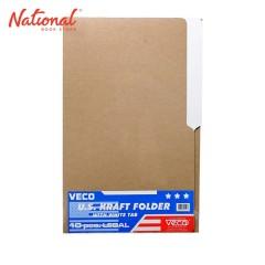 VECO FOLDER KRAFT LONG 14PTS US WHITE TAB 10S