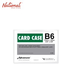 ADVENTURER DOCUMENT CARD CASE CC-B6 B6 PLASTIC SOFT