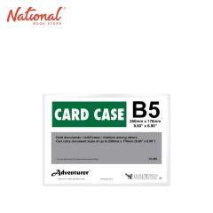 ADVENTURER DOCUMENT CARD CASE CC-B5 B5 PLASTIC SOFT