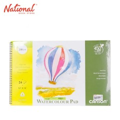 CANSON WATERCOLOR PAD 12X18 24 SHEETS