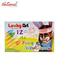 LUCKY ART FACE PAINT FC-12 12 COLORS CRAYON TYPE