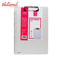 DELI CLIPBOARD 9248 A4 CLIP PLASTIC MATERIAL VERTICAL WITH RULER IVORY