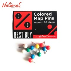 BEST BUY MAP PIN 50S ASSORTED COLOR W WINDOW