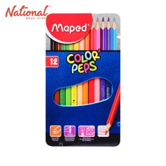 MAPED CLASSIC COLORED PENCIL 832014 12 COLORS IN METAL CASE