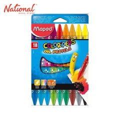 MAPED COLOR'PEPS OIL PASTEL 18 COLORS JUMBO