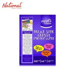 EXPERTS CHOICE PHOTO PAPER A4 300GSM 10S DUAL SIDE