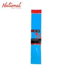 BEST BUY CREPE PAPER PEACOCK BLUE 500X2000MM