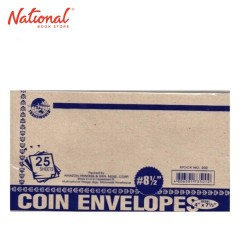 TRANSWORLD COIN ENVELOPE NO. 8 1/2 25S