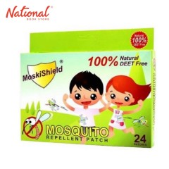 MOSKISHIELD MOSQUITO PATCH 24PCS W 1% NATURAL DEET