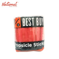 BEST BUY POPSICLE STICKS RED 100PCS