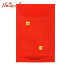 TRANSWORLD CHINESE ENVELOPE 10S RED 130GSM BIG PLAIN