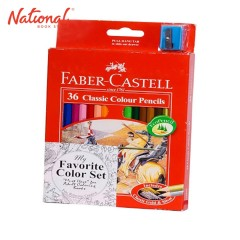 FABER-CASTELL CLASSIC COLORED PENCIL 12115856 36 COLORS LONG