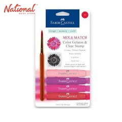 FABER-CASTELL WATERCOLOR CRAYON 121802 4 COLORS RED GELATO