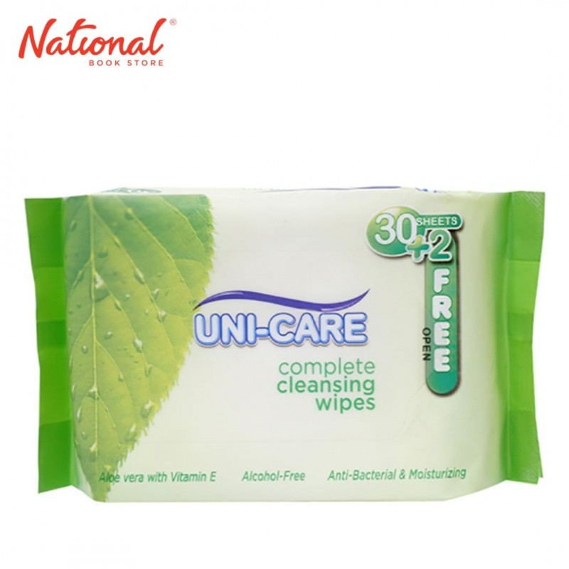 UNICARE WET TISSUE UCCW002 32SHTS CLEANSING WIPES/GREEN NON-WOVEN FABRIC LIQUID FORMULATION