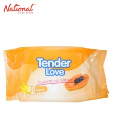 TENDER LOVE WET WIPES TLWC002 80S CLEANSING/ WITH PAPAYA/ ORANGE
