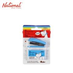 DELI STAPLER SET NO.10 253 WITH STAPLE WIRE MINI