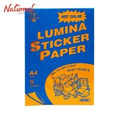 ELIT STICKER PAPER A4 5S NEON ORANGE