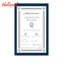 ADVENTURER CERTIFICATE HOLDER CH2 8.5X13, NAVY BLUE