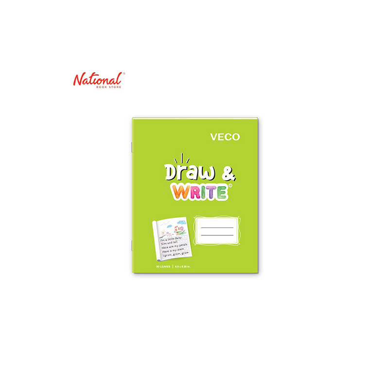 DRAW & WRITE WRITING NOTEBOOK 6.5X8.4 80S LIME GREEN