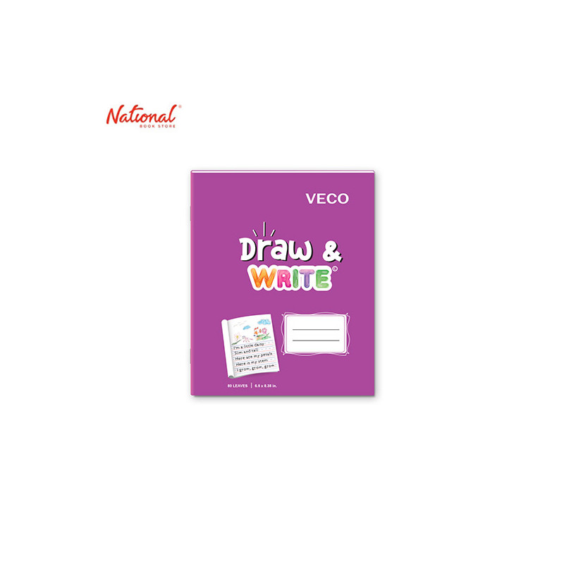 DRAW & WRITE WRITING NOTEBOOK 6.5X8.4 80S VIOLET