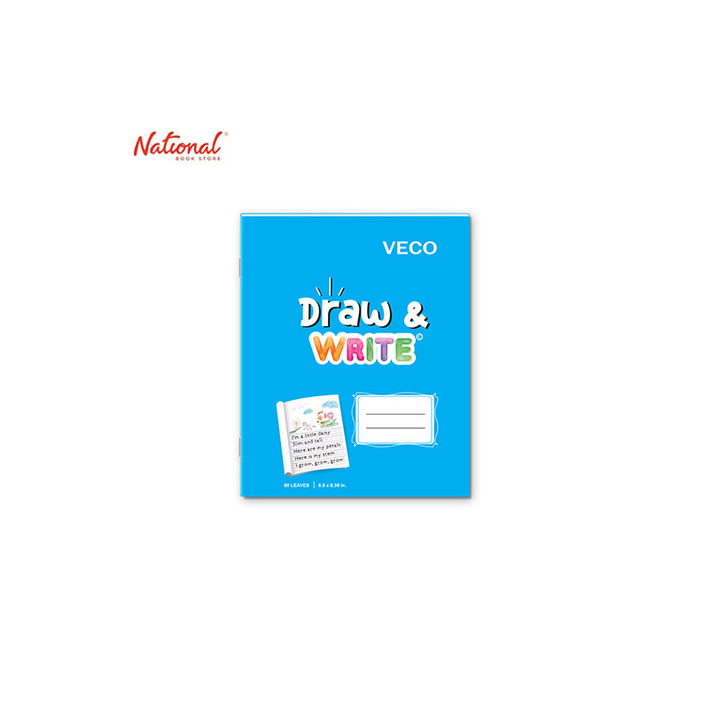 DRAW & WRITE WRITING NOTEBOOK 6.5X8.4 80S LIGHT BLUE