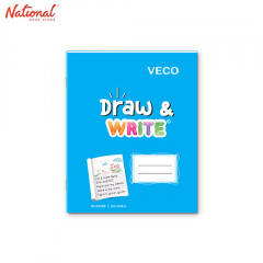 DRAW & WRITE WRITING NOTEBOOK 6.5X8.4 80S LIGHT BLUE
