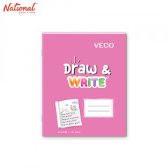 DRAW & WRITE WRITING NOTEBOOK 6.5X8.4 80S PINK