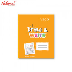 DRAW & WRITE WRITING NOTEBOOK 6.5X8.4 80S ORANGE