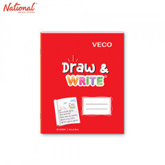 DRAW & WRITE WRITING NOTEBOOK 6.5X8.4 80S RED