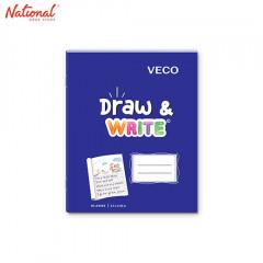 DRAW & WRITE WRITING NOTEBOOK 6.5X8.4 80S BLUE