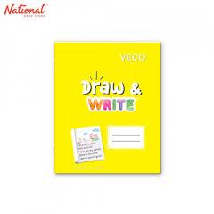 DRAW & WRITE WRITING NOTEBOOK 6.5X8.4 80S YELLOW