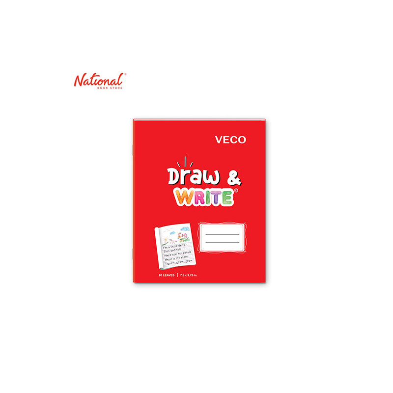 DRAW & WRITE WRITING NOTEBOOK 7.5X9.75 80S RED