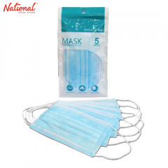 FACE MASK SURGICAL 3-PLY DISPOSABLE 5PCS/PACK