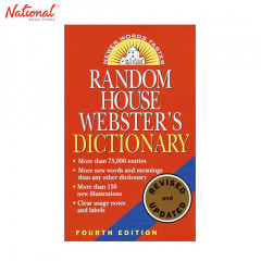 RANDOM HOUSE WEBSTERS DICTIONARY 4TH EDITION