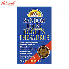 RANDOM HOUSE ROGET'S THESAURUS 4TH ED.