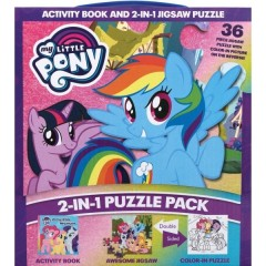 2 IN 1 PUZZLE PACK MY LITTLE PONY (TRADEPAPER)