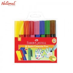 FABER CASTELL COLORING PEN JUMBO 8 COLORS JUMBO CONNECTOR