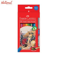 FABER-CASTELL CLASSIC COLORED PENCIL 12115852 12 COLORS LONG